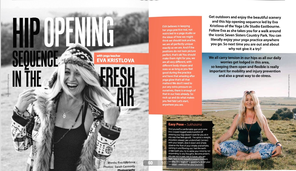 Hip opening class featured in the YOGA Magazine